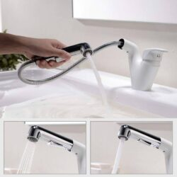 grifo para cuarto de baño blanco