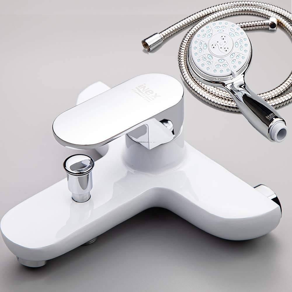 Grifo blanco de bañera y ducha Monomando