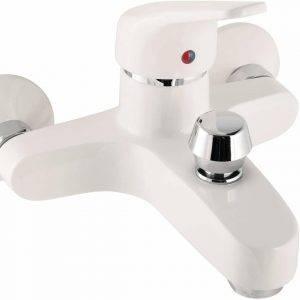 grifo blanco bañera