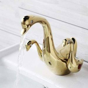 grifo lavabo cisne de oro