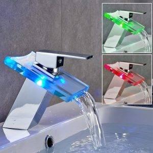 grifo lavabo con led