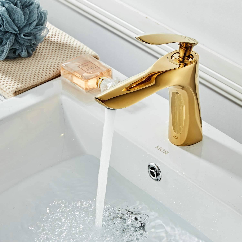 color dorado Pulverizador de resorte con doble boquilla para mezclador de cocina KunMai Monobloc