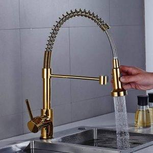 grifo flexible dorado