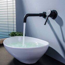 grifo empotrable negro para lavabo