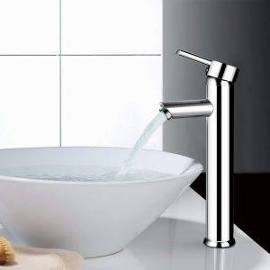 grifo de lavabo cromado