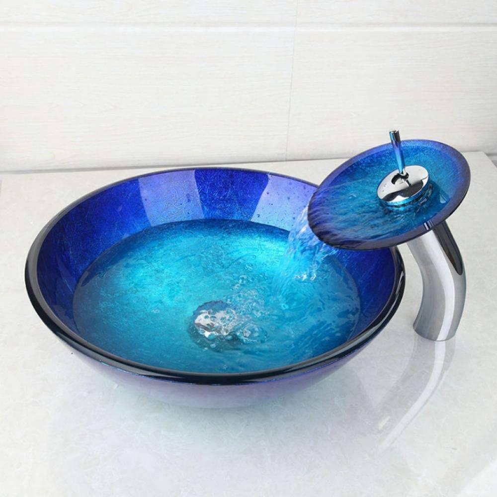 grifo lavabo azul