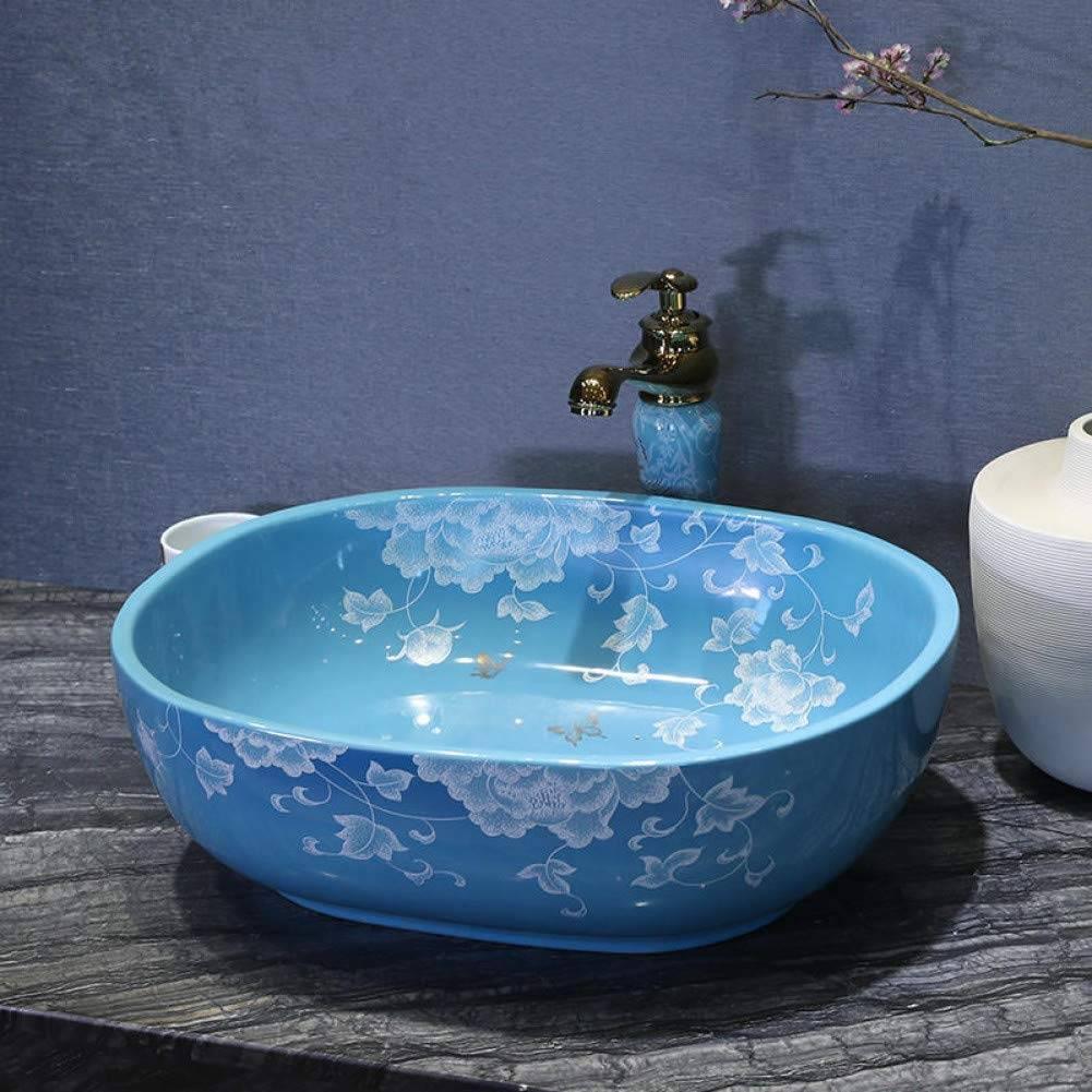Lavabo sobre encimera de porcelana