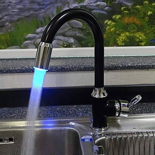 grifo de la cocina Negro LED