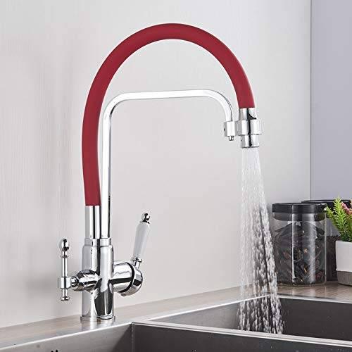 color rojo Sanitop-Wingenroth 06352/4/jetmix mezclador de lavabo