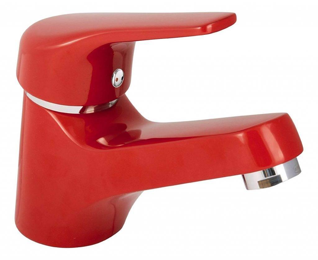 grifo de lavabo rojo
