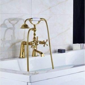 Grifo dorado de bañera