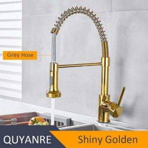 grifo flexible color oro