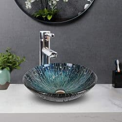 Lavabo de vidrio moderno