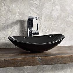 Lavabo negro moderno