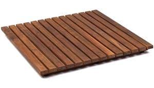 Tarimas de ducha de madera de teca