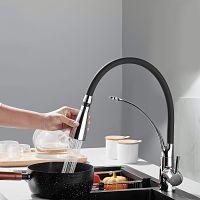 Grifo cocina flexible negro